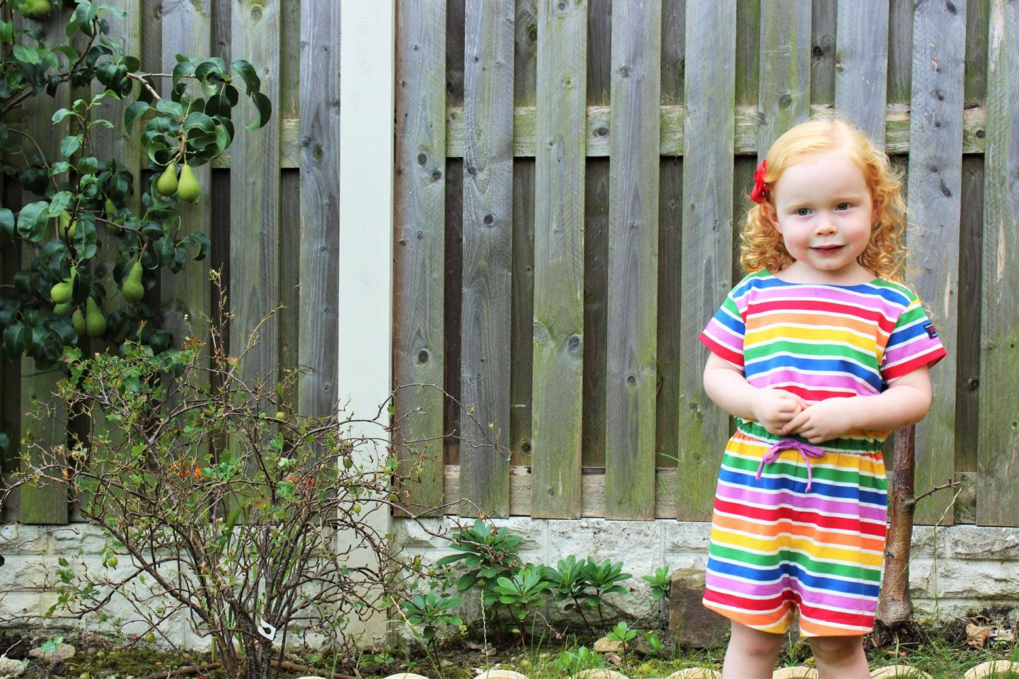 What Evie Wore | Rainbow Stripe Playsuit