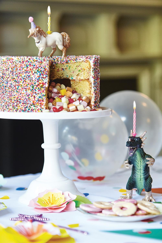 Rainbow Funfetti Pianata Cake - Image 1