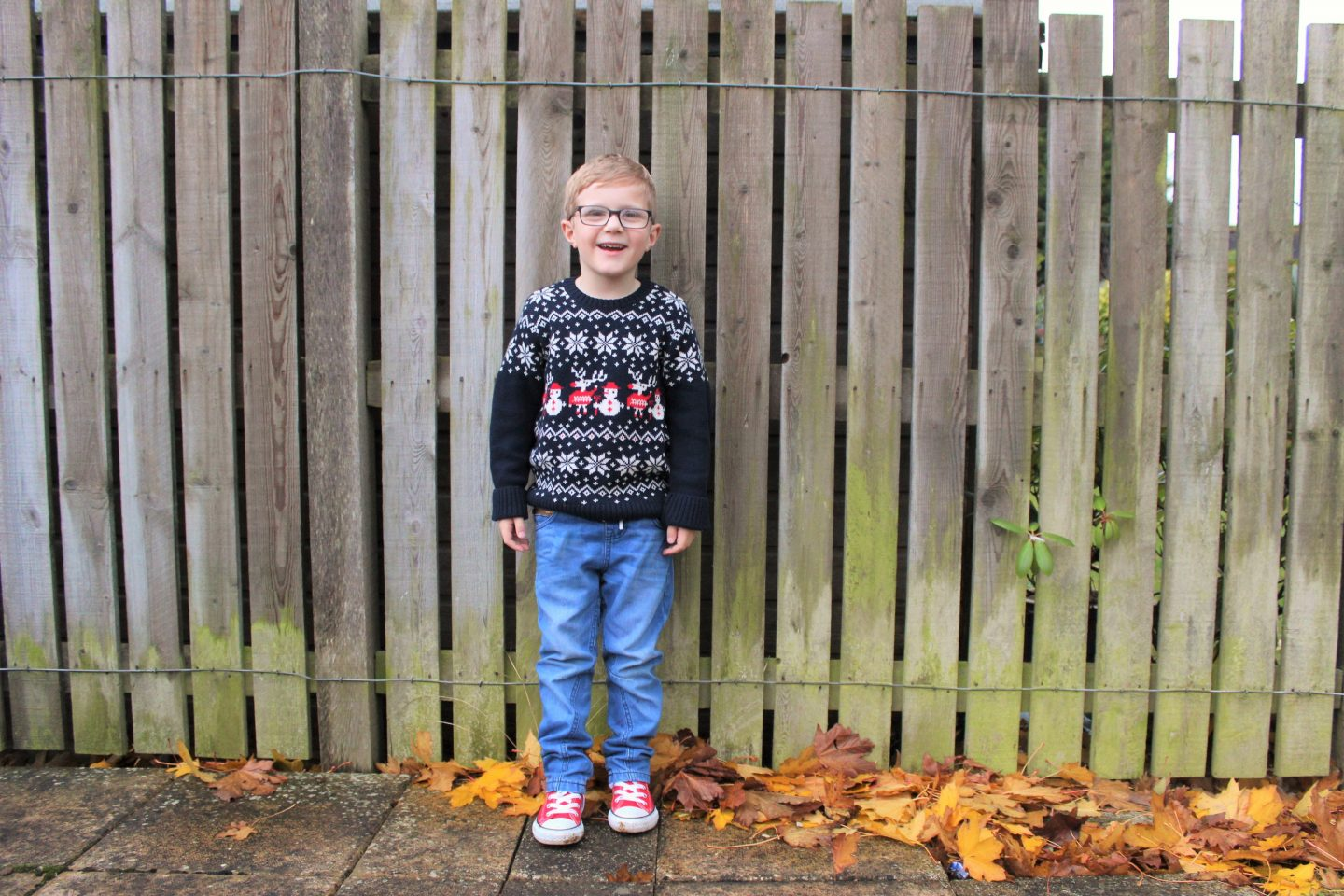 What Max Wore | Polarn O. Pyret Christmas Jumper