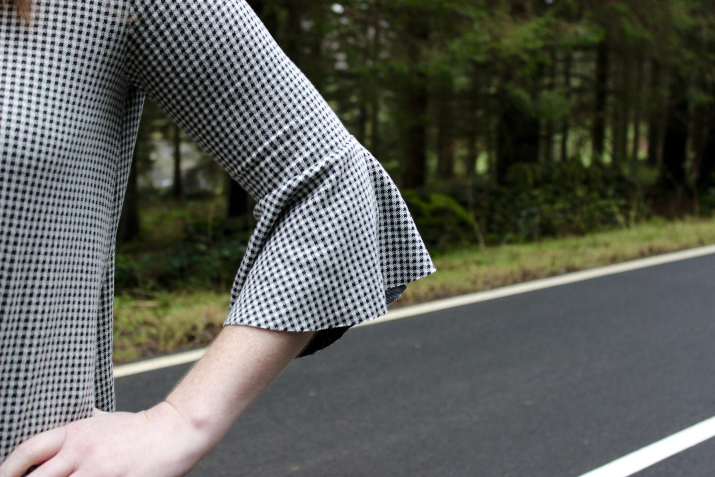 What I Wore | Flared Sleeves and Gingham