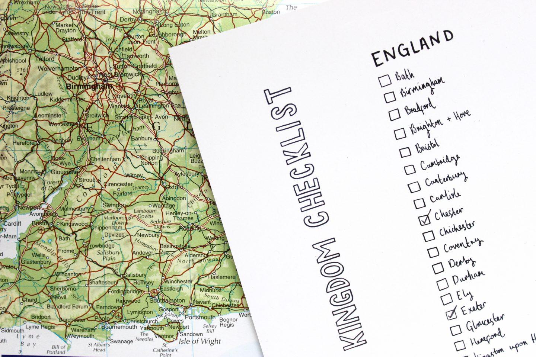 UK cities checklist