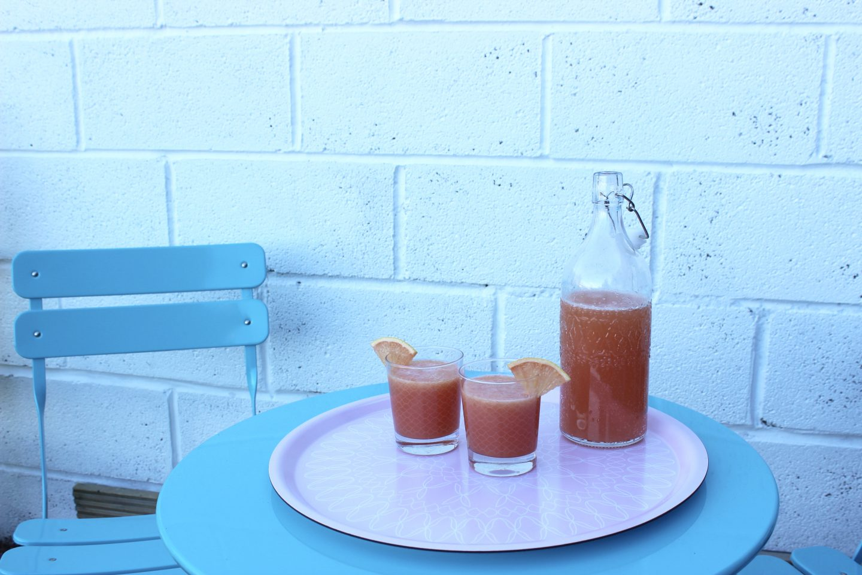 Grapefruit Gin Fizz Cocktails