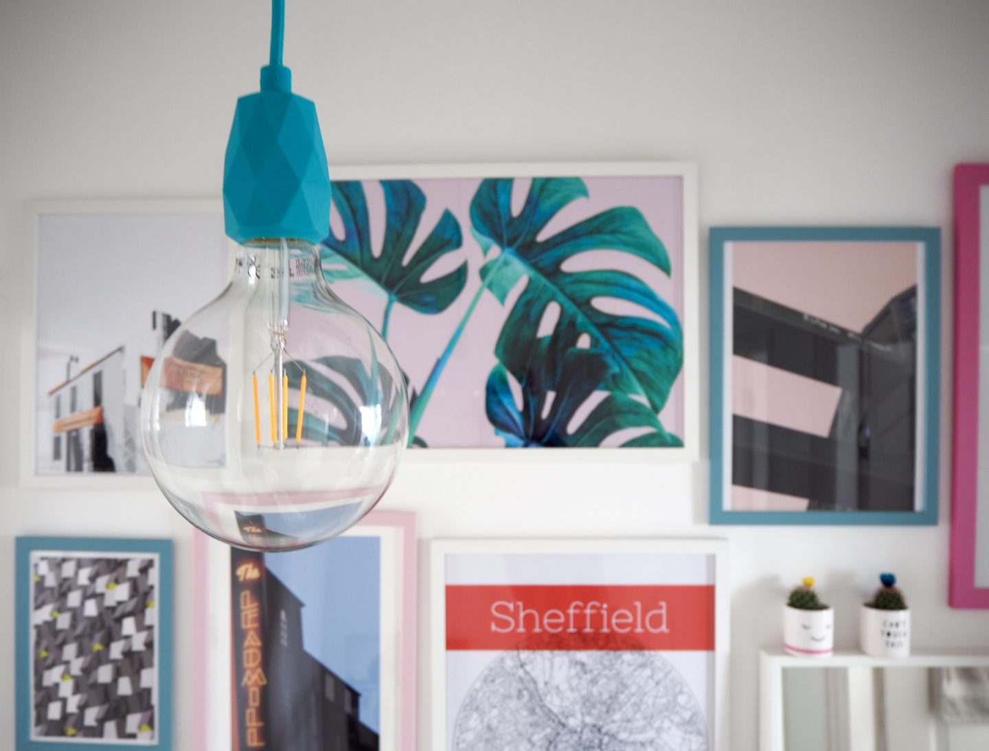 Sheffield themed gallery wall