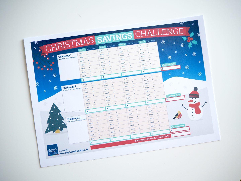Christmas savings challenge